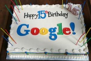 google 15'inci yaş gününü kutluyor