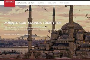 Zomato uygulaması Türkiye'de