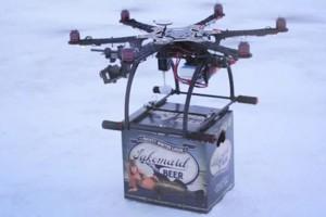 Drone teknolojisi bira reklamına konu oldu