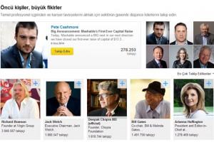 LinkedIn, tüm üyelerine yazı yazmalarına ve takipçi kazanmalarına imkân veriyor