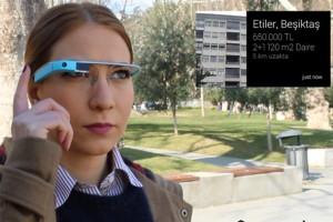 Türkiye'de Google Glass'a özel ilk emlak uygulaması