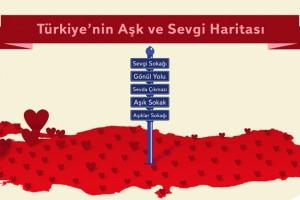 Yandex, Türkiye'nin aşk ve sevgi haritasını çıkardı