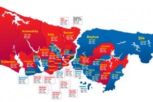 Bilyoner.com İstanbul'un taraftar haritasını çıkardı