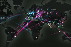dünya haritası_siber tehditler