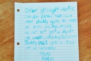 Babası için izin isteyen küçük kız Google'a mektup yazdı
