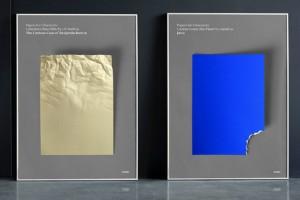 Film posterleri renkli kağıtlarla minimal tasarımla buluştu