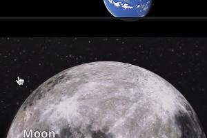 Google Haritalar'da artık Ay ve Mars'ı ziyaret edebilirsiniz