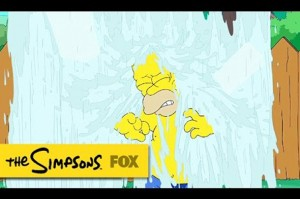 Homer Simpson da ice bucket challenge'a katıldı