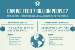 7 milyar kişi ne kadar yiyeceği boşa harcıyor