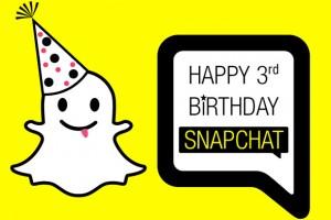 Snapchat üç yaşında_