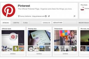 Pinterest, profil sayfalarını güncelledi