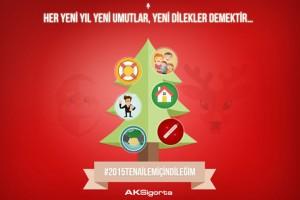 Aksigorta'nın Yeni Yıl sosyal medya uygulaması