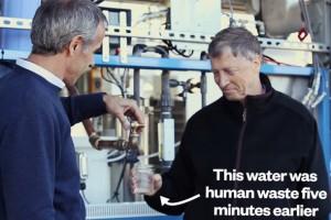 Bill Gates, insan dışkısından arıtılmış suyu içti