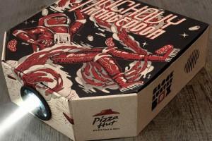 Pizza kutusu projektöre dönüşürse
