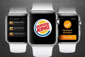 burger king apple watch uygulaması