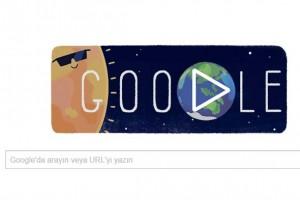 Google'da güneş tutulmasını Doodle yaptı