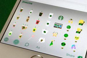 Starbucks kendi emoji klavyesini geliştirdi