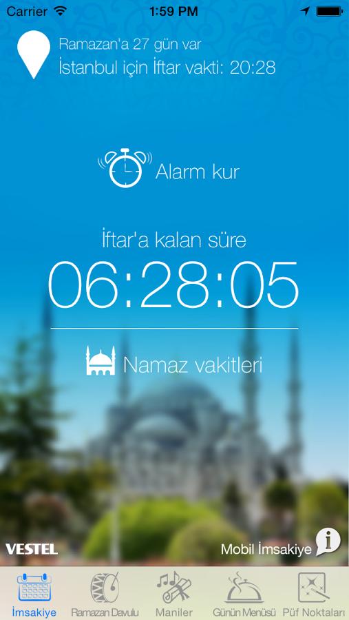 Vestel'den Ramazan ayına özel uygulama Mobil İmsakiye