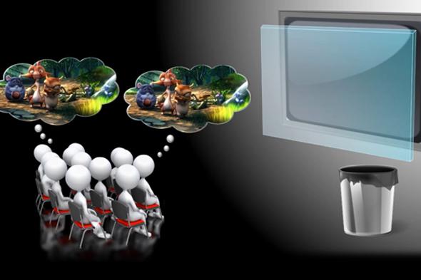 Sinemada 3D filmleri gözlüksüz izlemek mümkün oluyor
