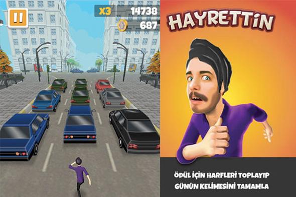 YouTube fenomeni Hayrettin artık bir mobil oyun