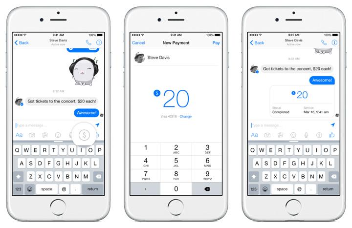 facebook messenger para transfer