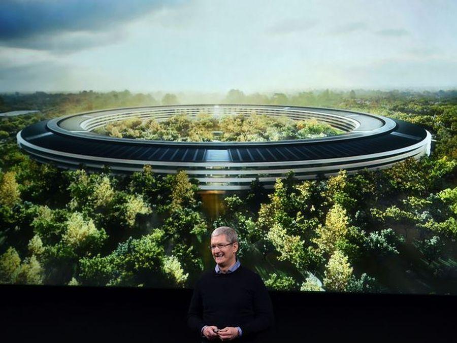 Apple Park'tan etkileyici yeni drone görüntüleri