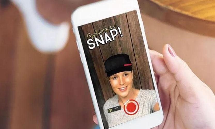 McDonald's işçi alımlarını Snapchat üzerinden yapacak