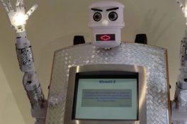 Bu da oldu: Robot din adamı yaptılar