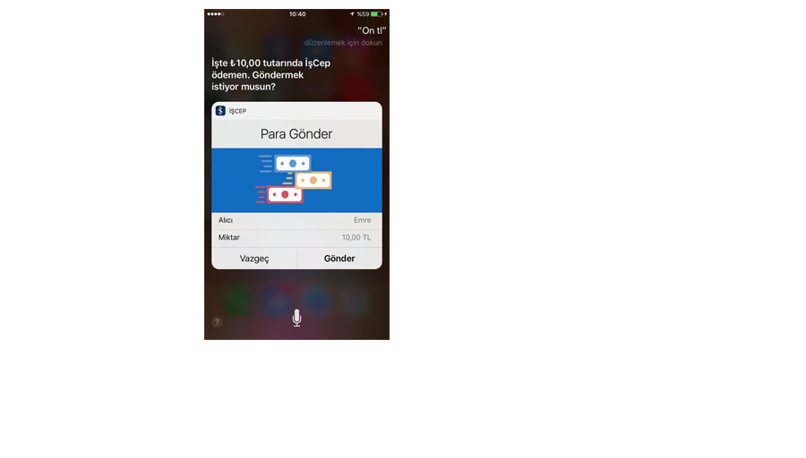 İşCep mobil uygulamasına Siri ile havale özelliği geldi