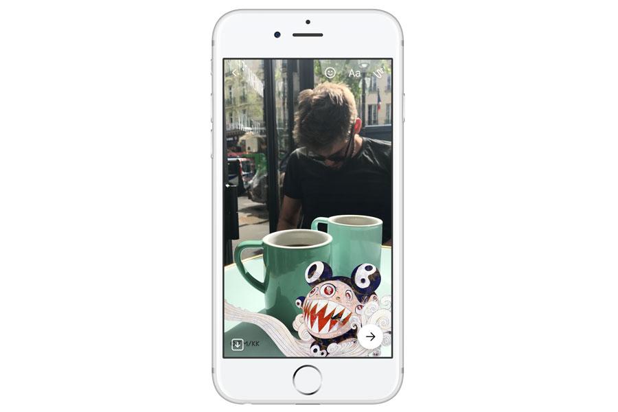 Takashi Murakami'nin sanat eserleri Facebook Messenger'da