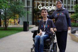 Engelli Türk gencin Google hayali gerçek oldu