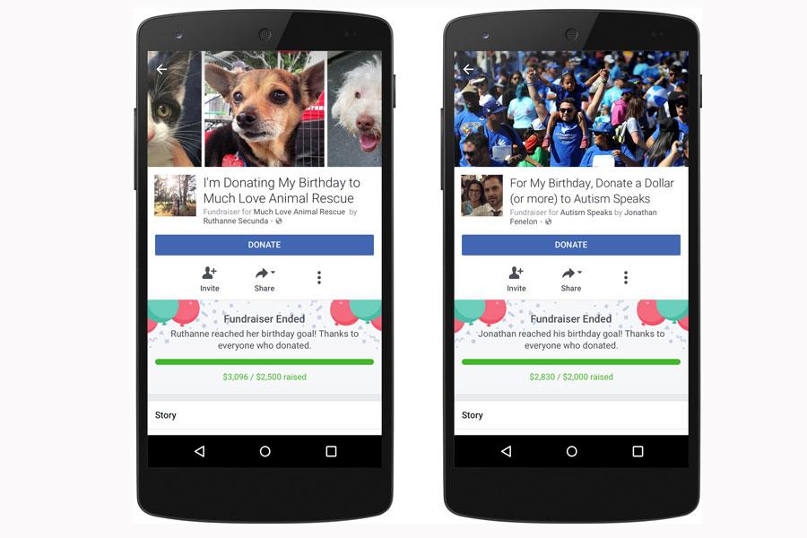 Facebook doğum günü kutlamalarına iki yeni deneyim