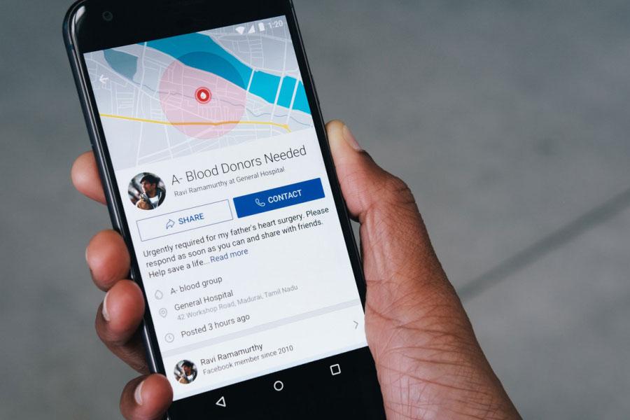 Facebook'tan kan bağışını destekleyen yeni özellik