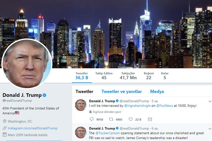 Twitter çalışanı Trump'ın hesabını sildi