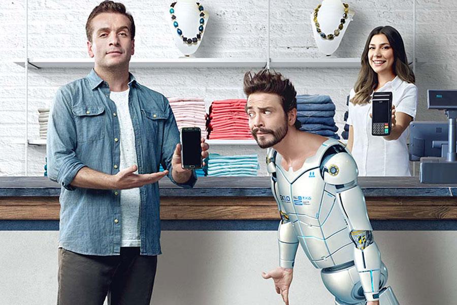 Gary&Metin Yapı Kredi ile mobil ödeme için ekranda