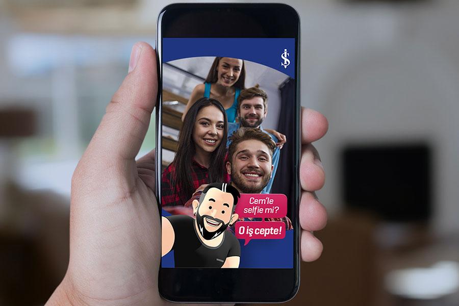 İş Bankası ve Cem Yılmaz'a Snapchat'ten özel filtre