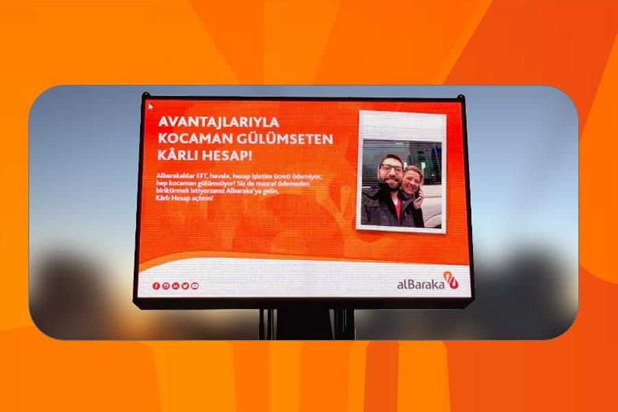 Albaraka Türk'ten gerçek zamanlı açıkhava kampanyası