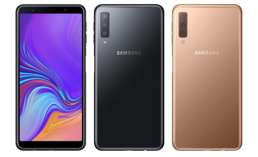 Üç kameralı Samsung Galaxy A7'nin Türkiye satış fiyatı belli oldu