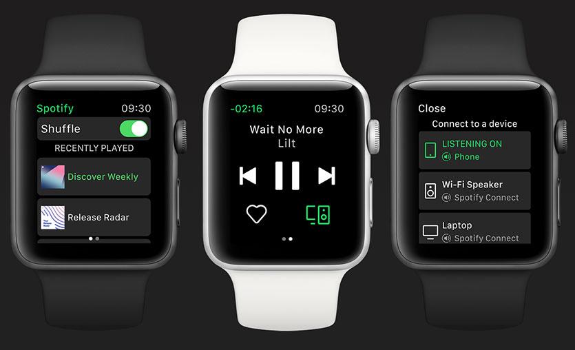 Spotify Apple Watch uygulaması yayınlandı