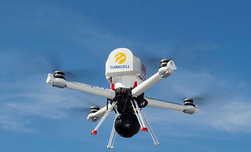 Turkcell'den 4K canlı görüntü aktaran drone