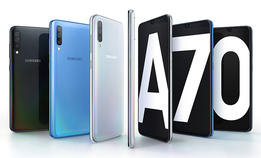Samsung, 32 megapiksel ön kameralı yeni Galaxy A70 modelini tanıttı