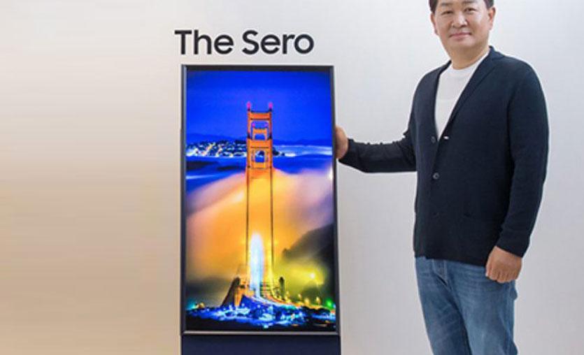 Samsung dikey televizyonu The Sero'yu tanıttı