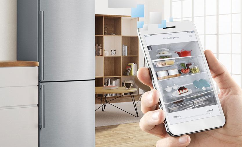 """Bosch'tan """"selfie""""çeken buzdolabı"""