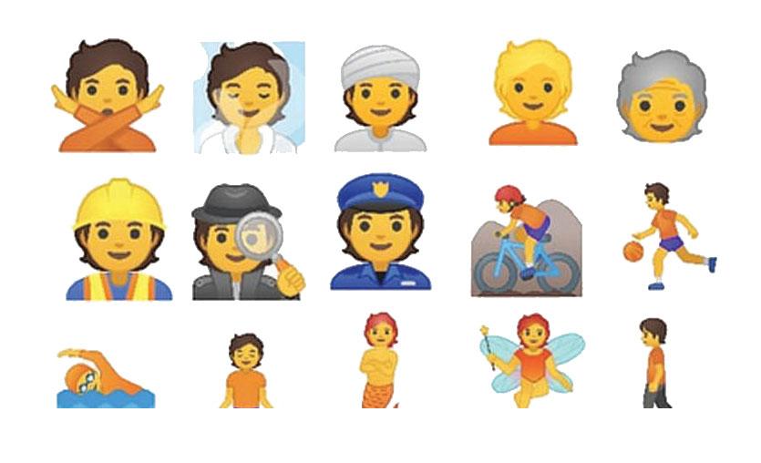 Google'ın cinsiyetsiz emojileri hazır