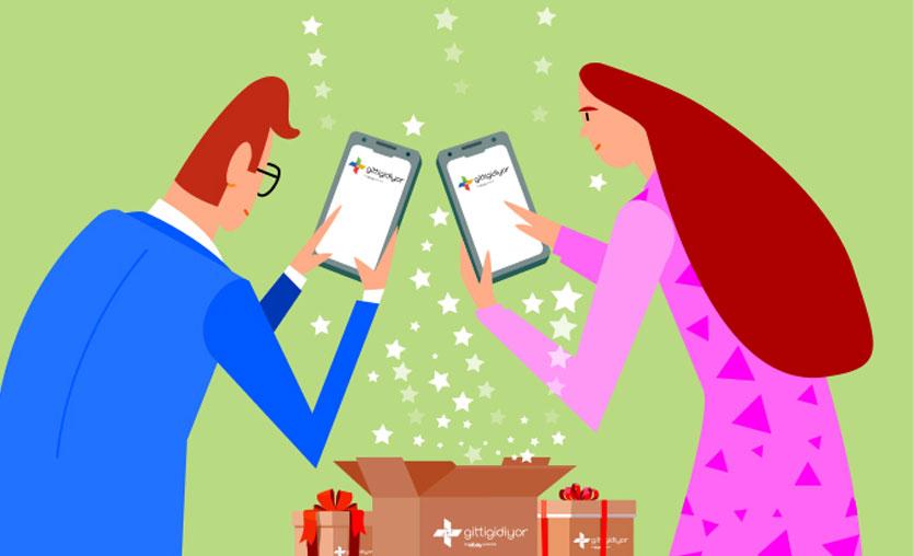GittiGidiyor mobil uygulaması üzerinden yapılan alışverişler 5 yılda 2,5 kat arttı
