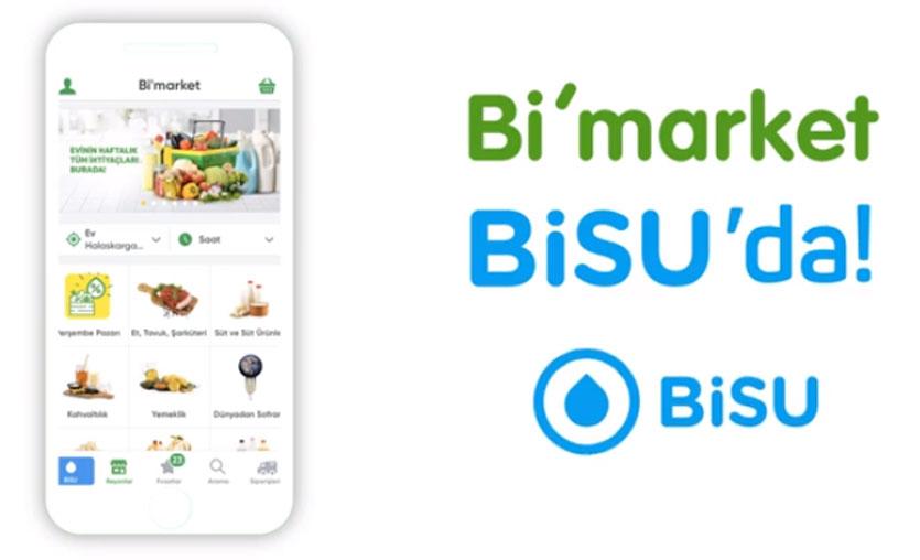 Su siparişi uygulaması BiSU'dan online market servisi: Bi'market