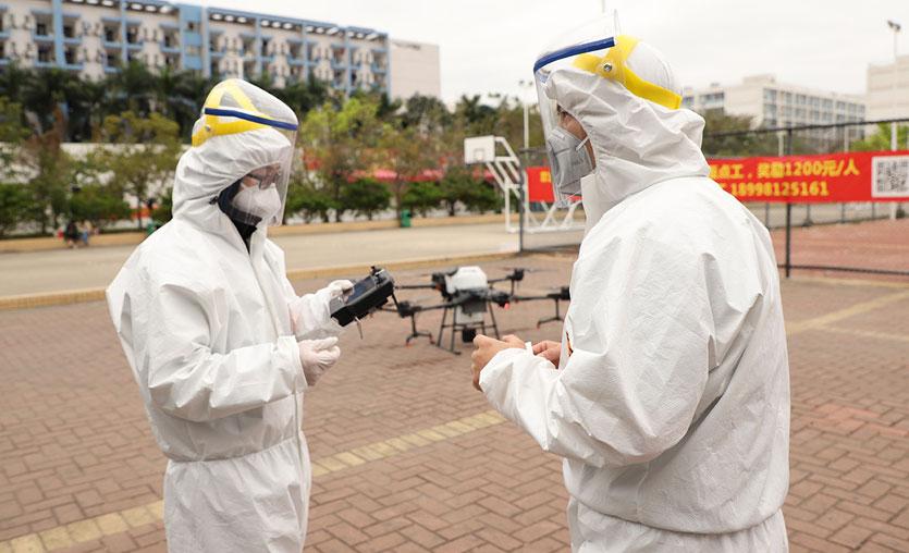 Koronavirüs'le mücadeleye drone desteği