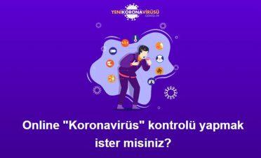 Sağlık Bakanlığı'ndan koronavirüs tespiti için internet sitesi
