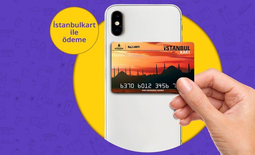 İstanbulkart ile Getir'den alışveriş yapılabilecek