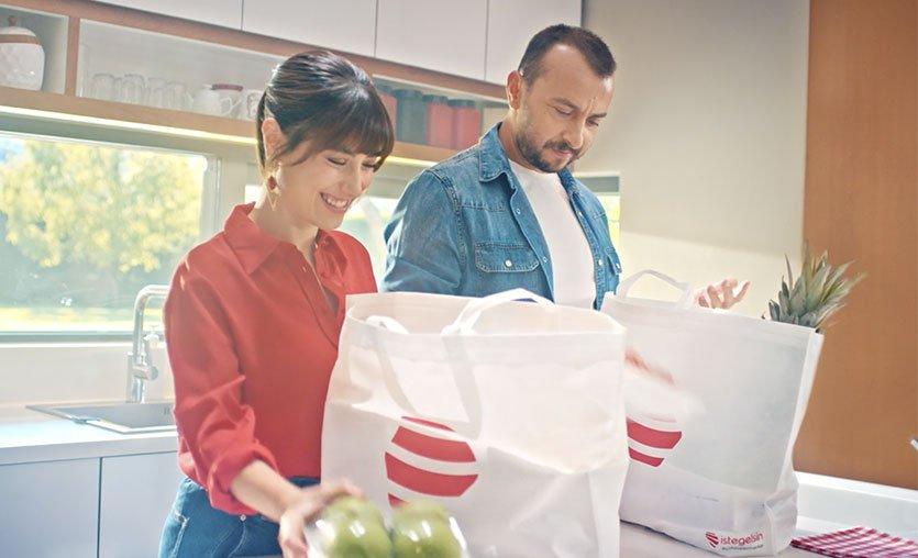 Online süpermarket istegelsin'den ilk reklam filmi